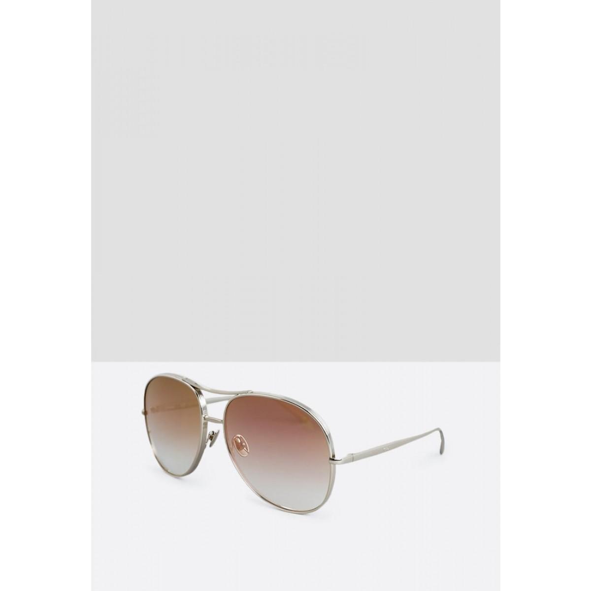 023ca56655e Chloe Jayme Rose Gold Aviator Women Sunglasses Cl-Ce127s-778-61 ...