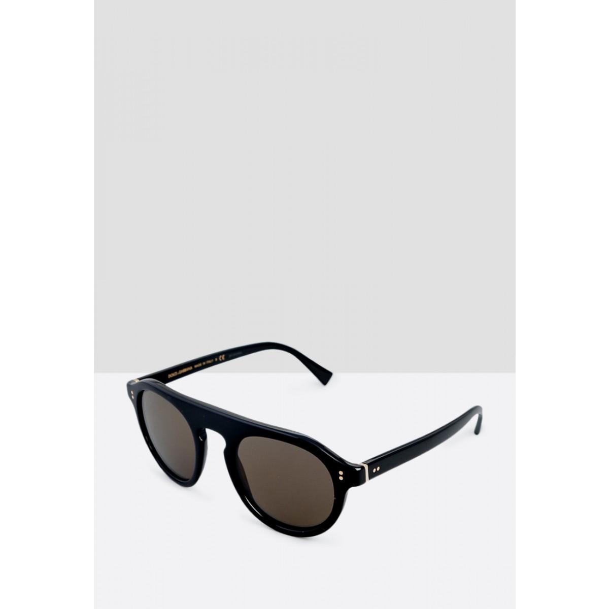 2b012178724c Dolce   Gabbana Black Aviator Men Sunglasses DG4306-501 R5-50 ...