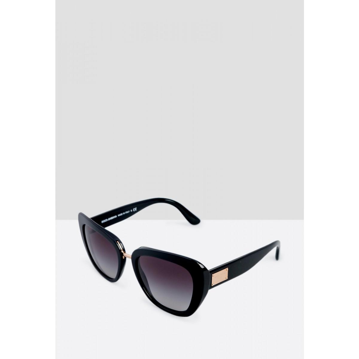 ca9cab364d8 Dolce   Gabbana Black Cateye Women Sunglasses DG4296-501 8G-53 - Sunglasses  - Fashion World