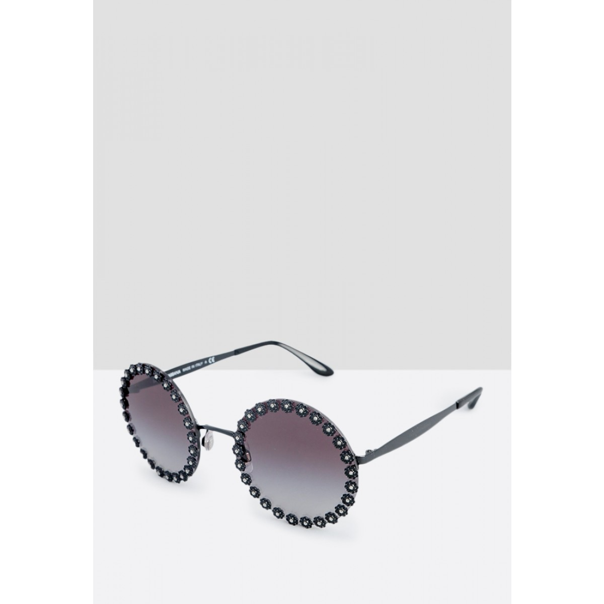 d18949319d36 Dolce   Gabbana Black Round Women Sunglasses DG2173B-01 8G-56. Be the first  to review this product