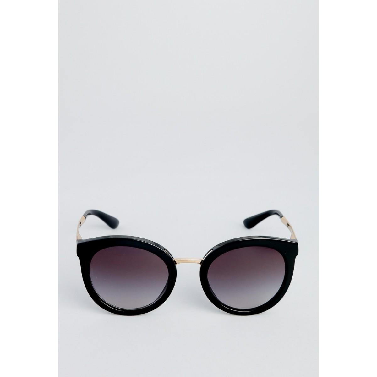 d7925747c805c0 ... Dolce   Gabbana Black Gold Oval Women Sunglasses Dg4268 601 8g 52
