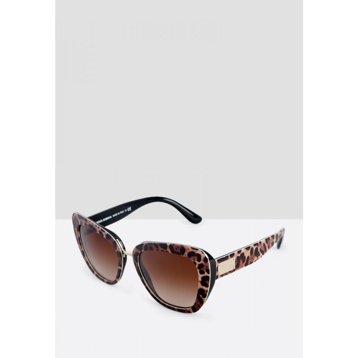 765f440370f5 Dolce & Gabbana Leopard Print Cateye Women Sunglasses DG4296-199513-53 -  Sunglasses - Fashion World