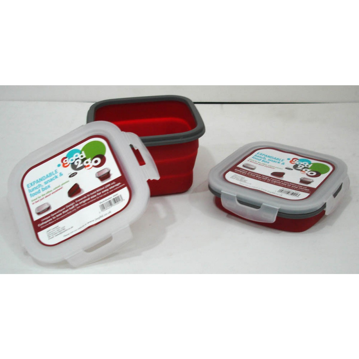Good 2 Go Square Container 800ml Red
