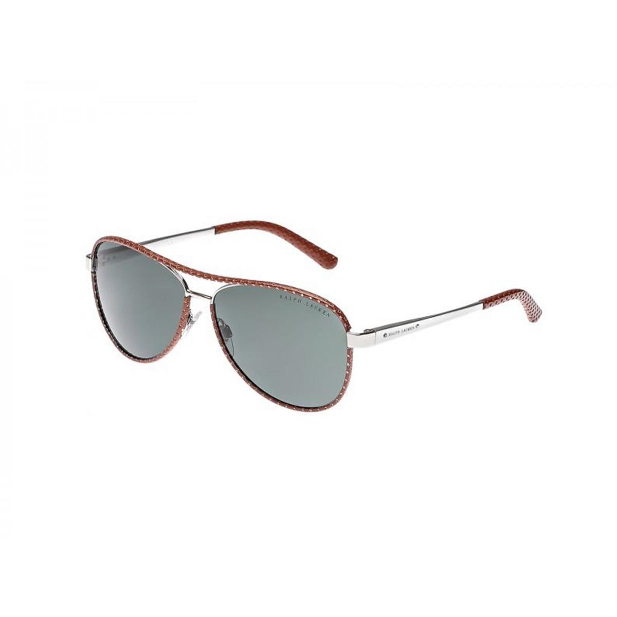 d27abb527870 Ralph Lauren Silver Brown Aviator Women Sunglasses RLS7050Q-929871 -  Sunglasses - Fashion World