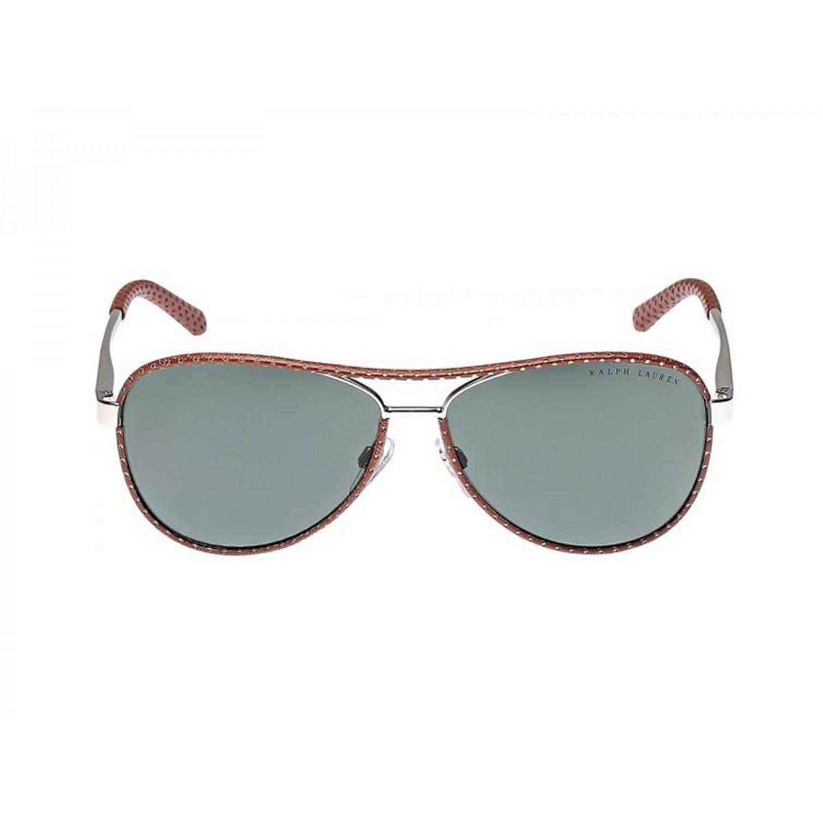 b5ec0d32bbed Ralph Lauren Silver Brown Aviator Women Sunglasses RLS7050Q-929871 ...