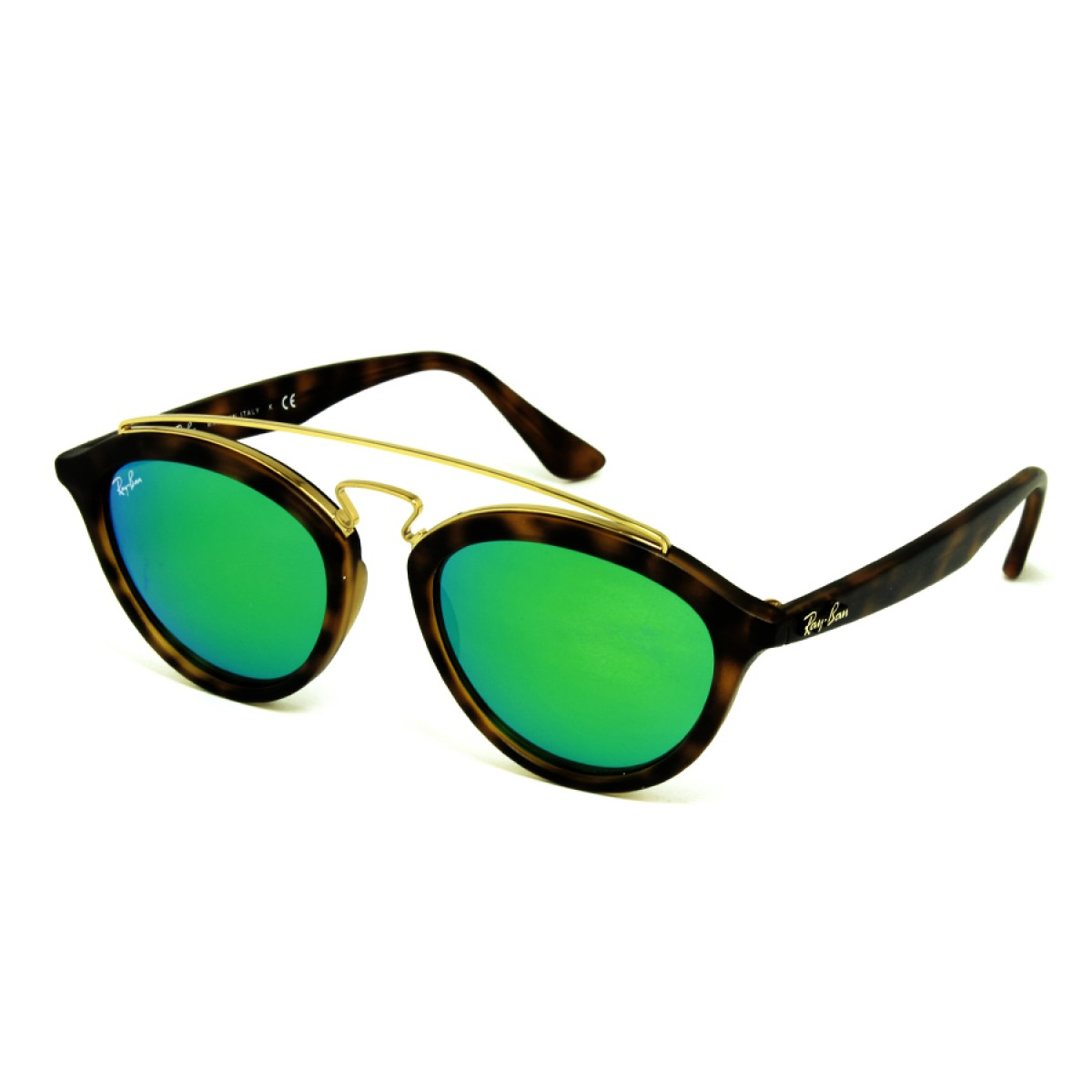 99a180d07e Ray Ban Gatsby II Green Mirror Unisex Sunglasses RB4257-60923R-50 -  Sunglasses - Fashion World