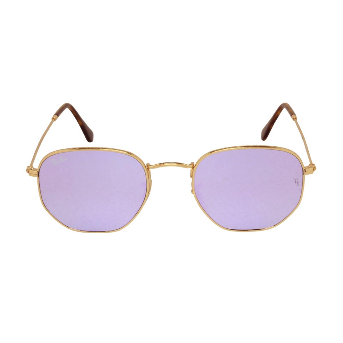 ece04d7e8cc Ray Ban Hexagonal Flat Lens Lilac Mirror Unisex Sunglasses RB3548N-001 8O -  Sunglasses - Fashion World