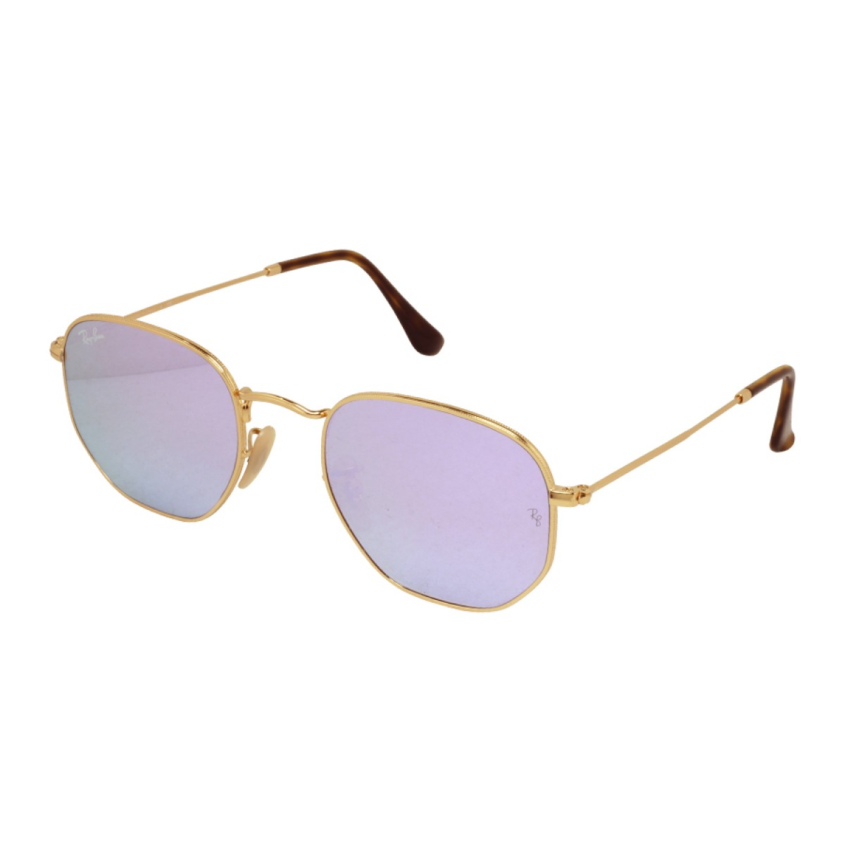 Ray Ban Hexagonal Flat Lens Lilac Mirror Unisex Sunglasses RB3548N-001 8O 6e24df8b10