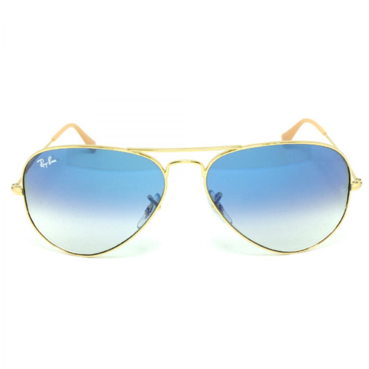 dcf22c8f8806f Ray Ban Original Aviator Unisex Sunglasses RB3025-001 3F-58 ...