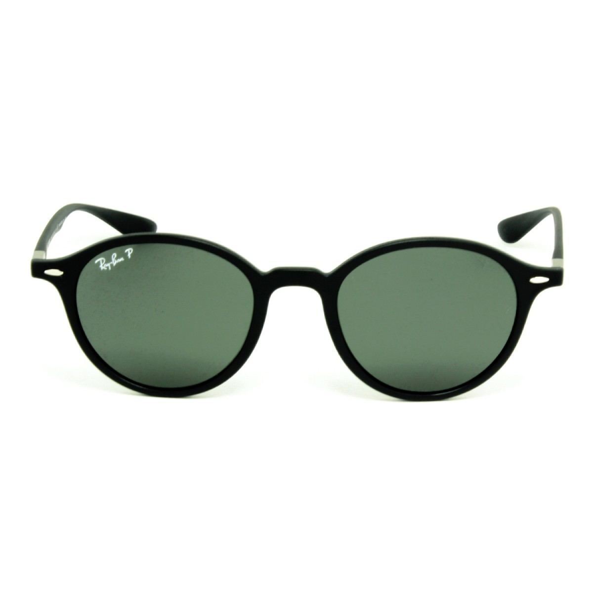 37a73a50a0 Ray Ban Round Lightforce Black Polarized Green Classic G-15 Unisex  Sunglasses RB4237-601S58-50 - Fashion World