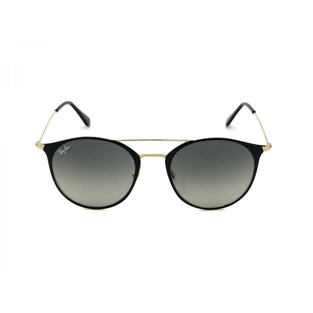 37e6f69bc402aa Ray Ban Black Gold Round Unisex Sunglasses RB3546-187 71-52 ...