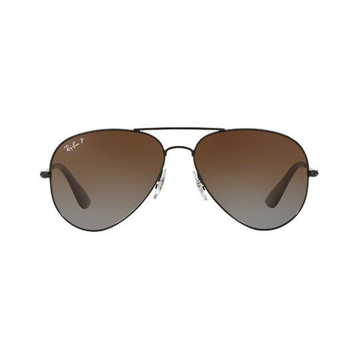 0109336ee5 Ray Ban Polarized Black Aviator Unisex Sunglasses RB3558-02 T5-58 ...