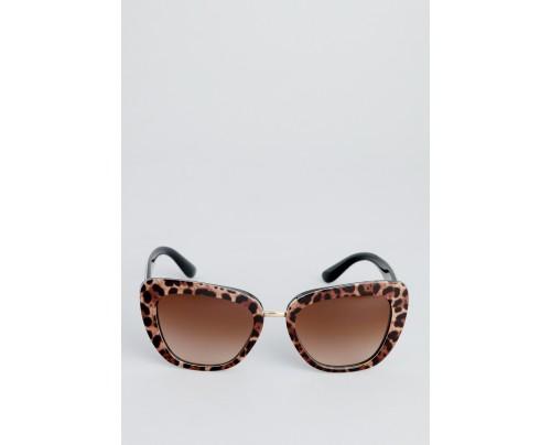ccf24900a200 Dolce & Gabbana Leopard Print Cateye Women Sunglasses DG4296-199513-53-1