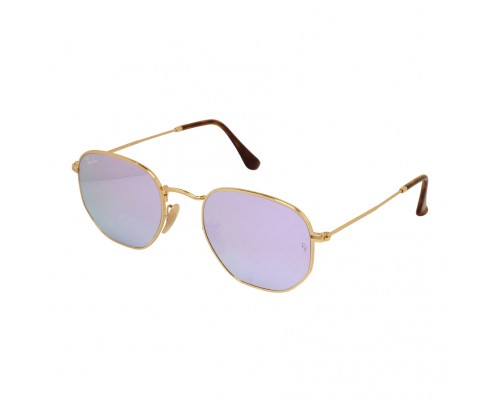 Ray Ban Hexagonal Flat Lens Lilac Mirror Unisex Sunglasses RB3548N ... 38f533c914